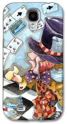 Mad Hatter Paintings Galaxy S4 Cases