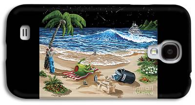 Sand Castles Paintings Galaxy S4 Cases