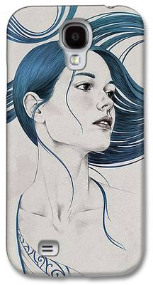 Girl Drawings Galaxy S4 Cases