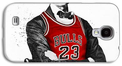 Bulls Digital Art Galaxy S4 Cases