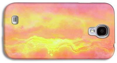 Sunset Abstract Mixed Media Galaxy S4 Cases
