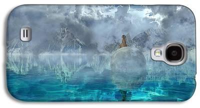 Moon Fairies Blue Snow Woman Galaxy S4 Cases