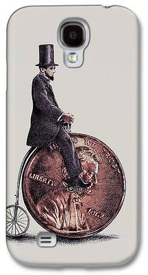 Bicycle Drawings Galaxy S4 Cases