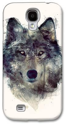 Animals Mixed Media Galaxy S4 Cases