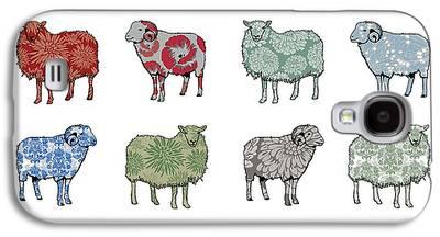 Sheep Digital Art Galaxy S4 Cases