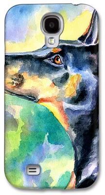 Doberman Pinscher Galaxy S4 Cases