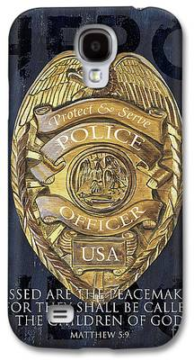 Police Paintings Galaxy S4 Cases