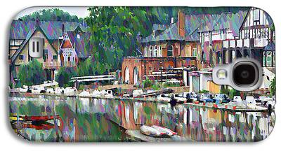 Row Boat Digital Art Galaxy S4 Cases