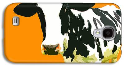 Cow Digital Art Galaxy S4 Cases