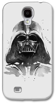 White Paintings Galaxy S4 Cases