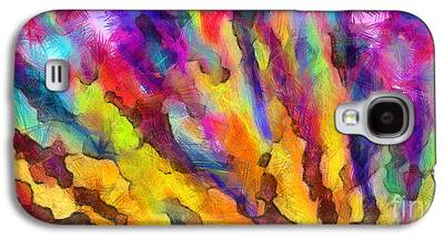 Colored Pencil Abstract Drawings Galaxy S4 Cases