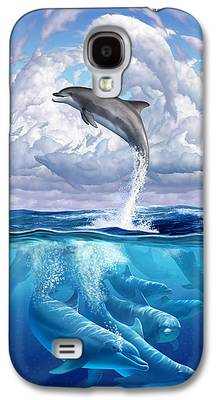 Dolphin Digital Art Galaxy S4 Cases