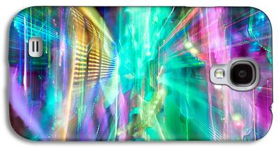 Abstract Fusion Galaxy S4 Cases