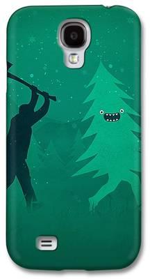 Running Digital Art Galaxy S4 Cases