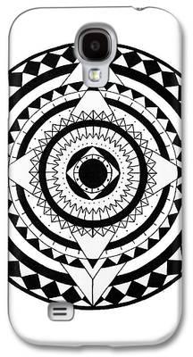 Circles Drawings Galaxy S4 Cases