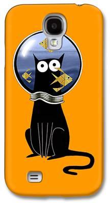 Goldfish Mixed Media Galaxy S4 Cases