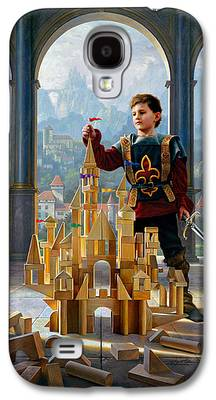 Knights Castle Paintings Galaxy S4 Cases