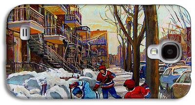 Montreal Neighborhoods Paintings Galaxy S4 Cases