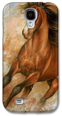 Wild Horse Paintings Galaxy S4 Cases