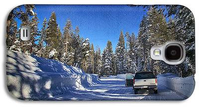 Snow-covered Landscape Digital Art Galaxy S4 Cases