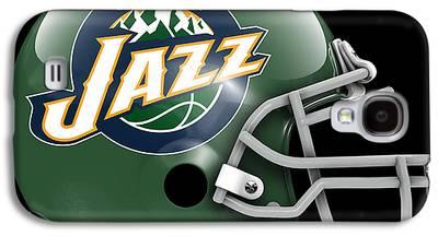 Utah Jazz Paintings Galaxy S4 Cases