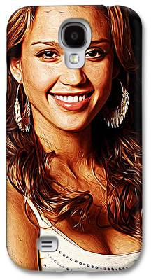 Jessica Alba Paintings Galaxy S4 Cases