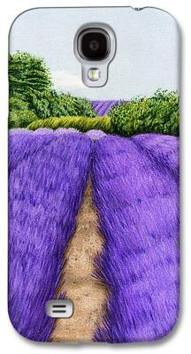 Autumn Landscape Drawings Galaxy S4 Cases