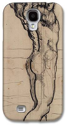 Male Nude Drawing Drawings Galaxy S4 Cases