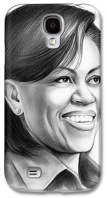 Michelle Obama Drawings Galaxy S4 Cases