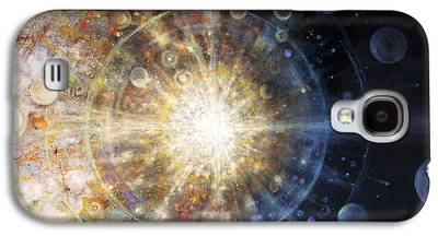 Planetary System Paintings Galaxy S4 Cases
