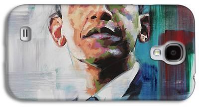Michelle Obama Portrait Galaxy S4 Cases