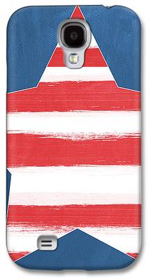 Stars And Stripes Mixed Media Galaxy S4 Cases