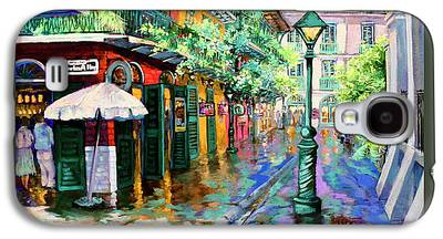 French Quarter Paintings Galaxy S4 Cases