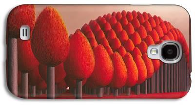 Garden Scene Paintings Galaxy S4 Cases