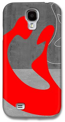 Red Mixed Media Galaxy S4 Cases