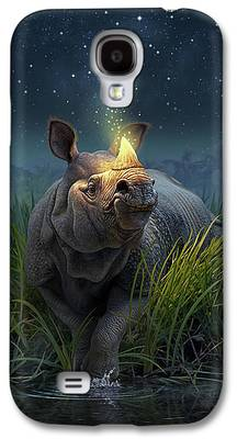 Rhinoceros Paintings Galaxy S4 Cases