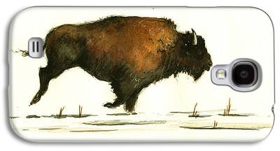 Bison Paintings Galaxy S4 Cases