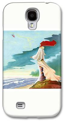Beach Landscape Drawings Galaxy S4 Cases