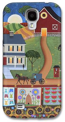 Horse And Buggy Paintings Galaxy S4 Cases