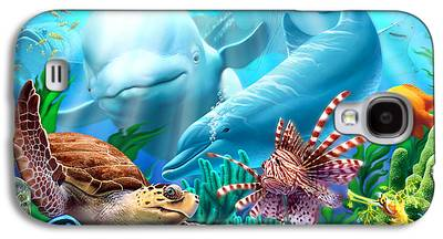 Whale Digital Art Galaxy S4 Cases