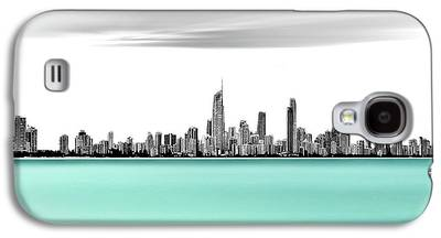 Silver Turquoise Galaxy S4 Cases
