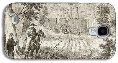 Civil War Battle Site Drawings Galaxy S4 Cases