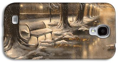 Snowy Night Paintings Galaxy S4 Cases