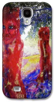 Fantasy Landscape With Figure Digital Art Galaxy S4 Cases