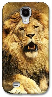 Lions Mixed Media Galaxy S4 Cases