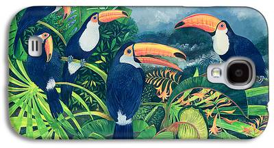 Flock Of Birds Paintings Galaxy S4 Cases