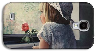 Missing Child Paintings Galaxy S4 Cases