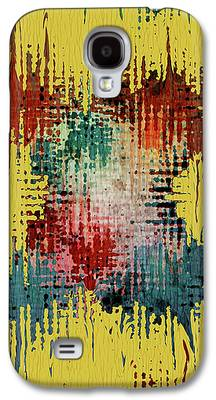 Contemporary Abstract Mixed Media Galaxy S4 Cases