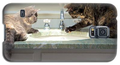 Cat Curiosity Galaxy S5 Case