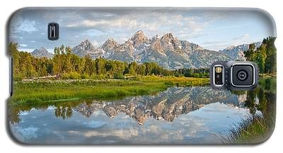 Teton Range Reflected In The Snake River Galaxy S5 Case